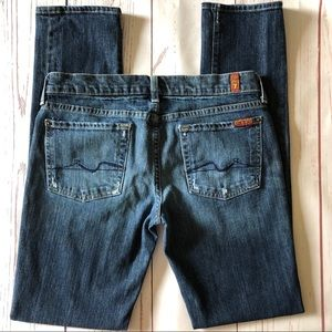 """7 FOR ALL MANKIND Roxanne JEANS EUC sz 28  (29"""")"""